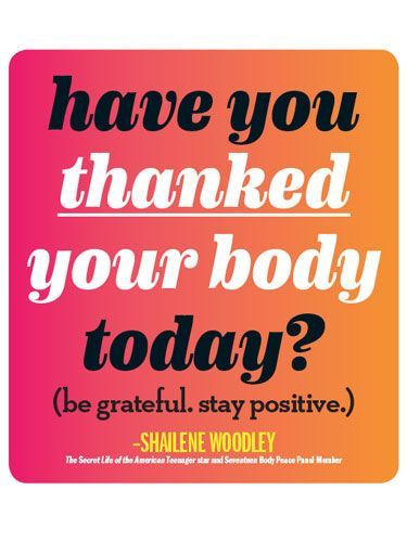 Inspired to Stay Fit with These Quotes! Today, take the time to say 'thank you' to your body..Today, take the time to say 'thank you' to your body..