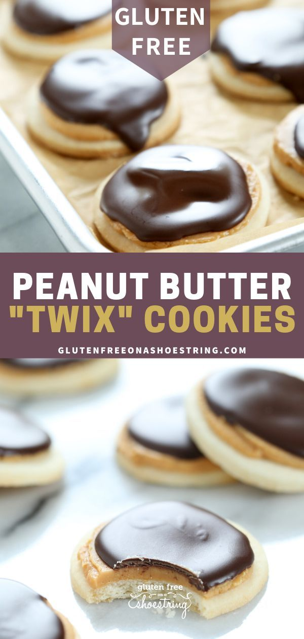Gluten Free Peanut Butter Twix Cookies | Great gluten free recipes for every occasion.