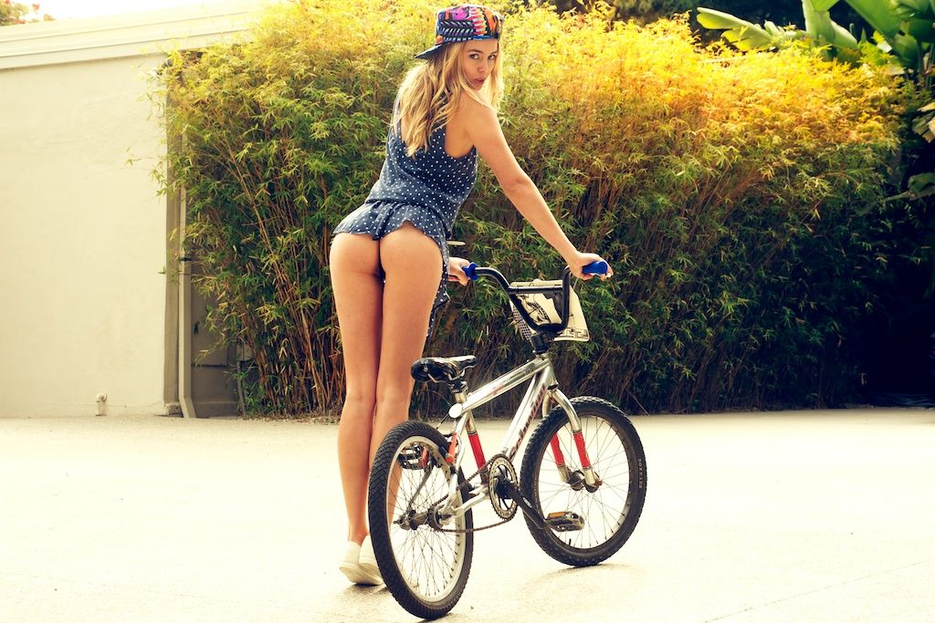 Adult babes on bikes