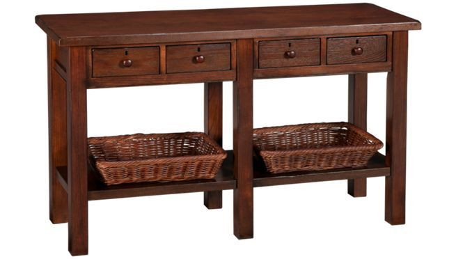 Klaussner Sofa Table And 2 Baskets Occasional Tables In Ma Nh And Ri At Jordans Furniture Chair Side Table Furniture Sofa Table