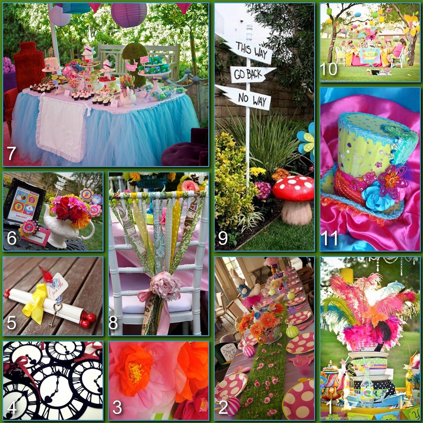 Alice in wonderland food menu disney donna kay disney for Alice in wonderland tea party decoration ideas