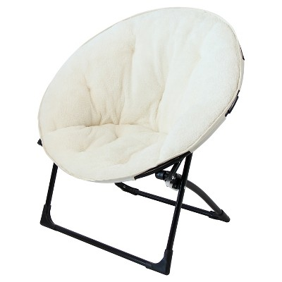Saucer Chair For Kids Sleep Apnea Recliner Fuzzy Cream Pillowfort Classic Ivory