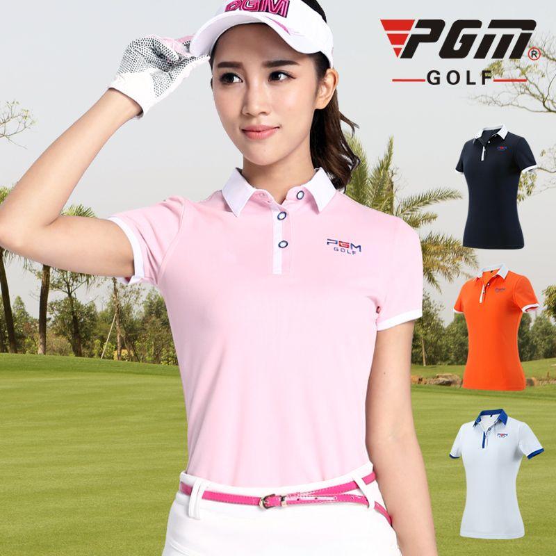 9353e93d1 Ms PGM Golf Clothing Short Sleeve Polo Shirt Summer Ball Golf Clothes Dry  Fit Jacket Golf Women Clothes Table Tennis TShirt M-XL
