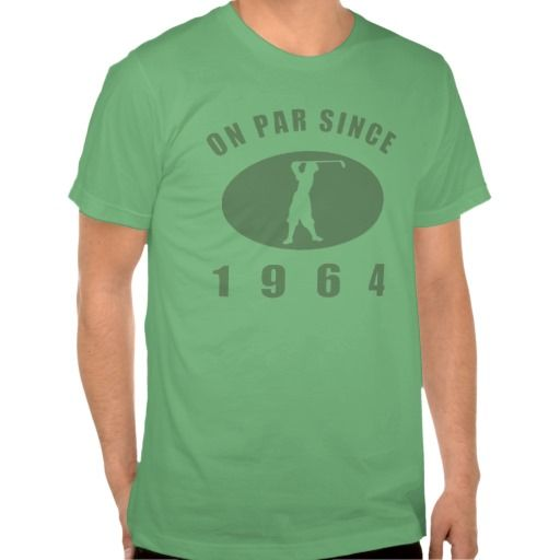 1964 Birthday Golf T-shirt. This birth year gift idea is perfect for men who love to play golf! #50 #50thbirthday