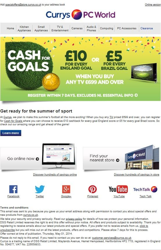 A good example of a company using football in their email - address book example