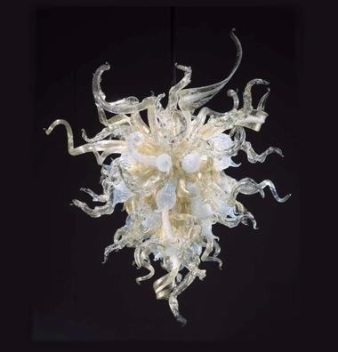 N Glass Chandelier, Chihuly Like Chandeliers