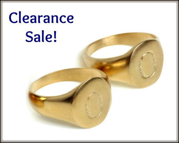 CLEARANCE SALE, Statement ring, Engraved Letter -  - statement letter