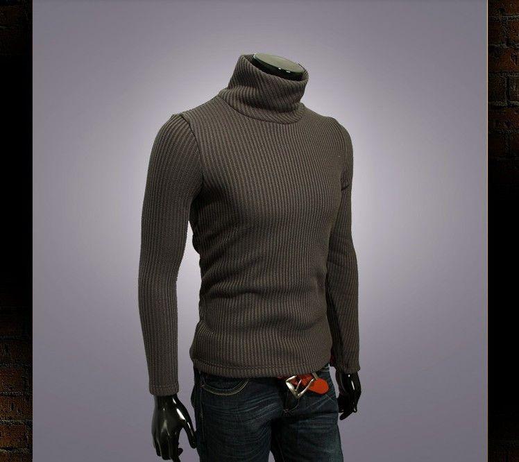 85cc440ab8777 Hombres cuello alto suéter suéter cuello de tortuga cálidos camisas para  suéter delgado suéter de lana