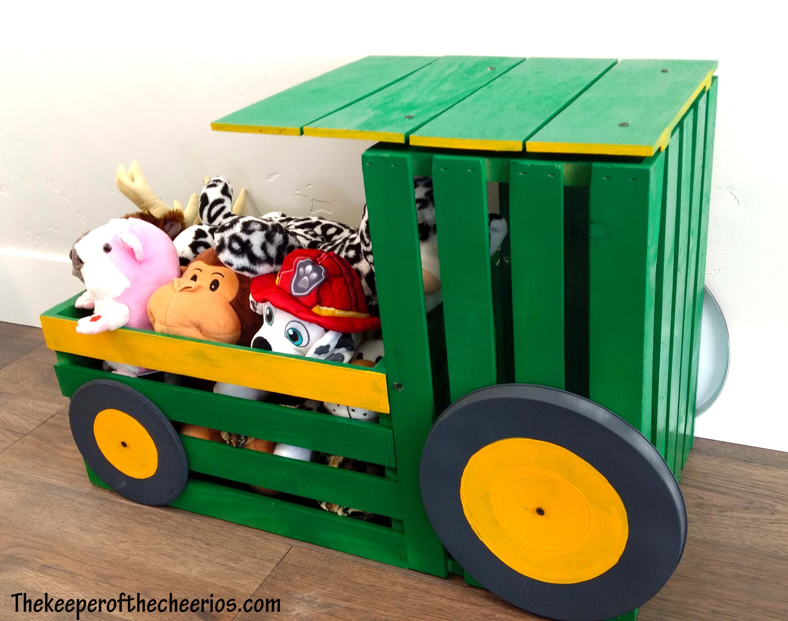 tractor toy box | 1st repurpose, redo & recycle | wood crate