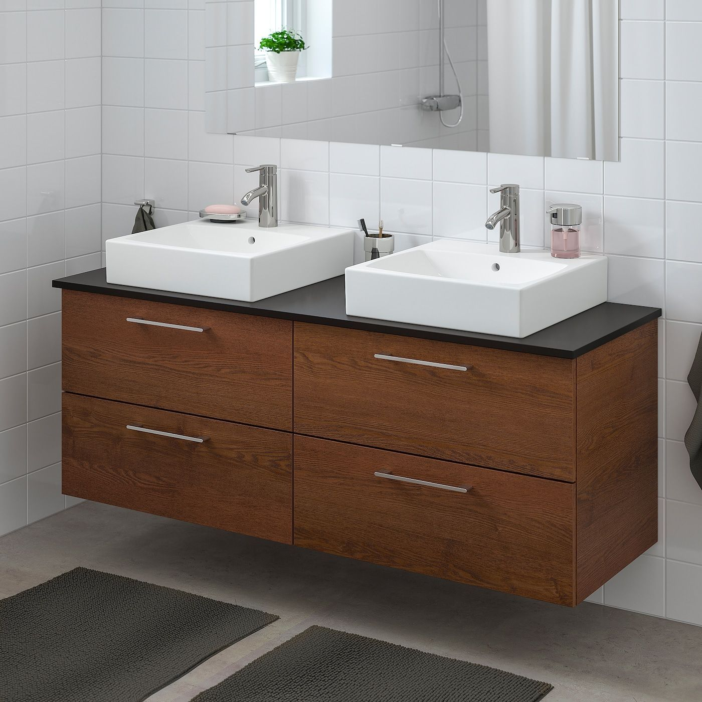 Ikea Godmorgon Tolken Tornviken Brown Stained Ash Effect