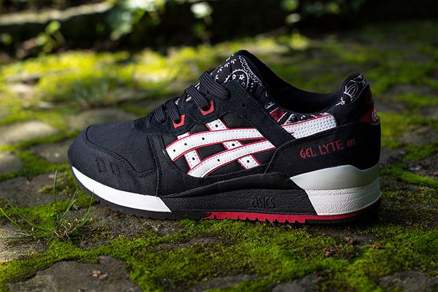 Black ASICS Gel-Lyte III Sneakers Mens