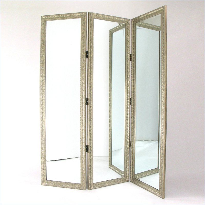 Wayborn Mirror With Frame Full Size Dressing Room Divider In