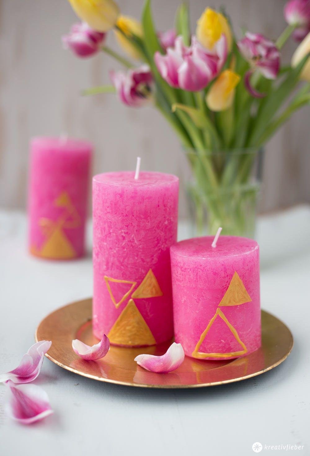 Design Diy Candles 3 Variants Diy Kerzen Gestalten Kerzen