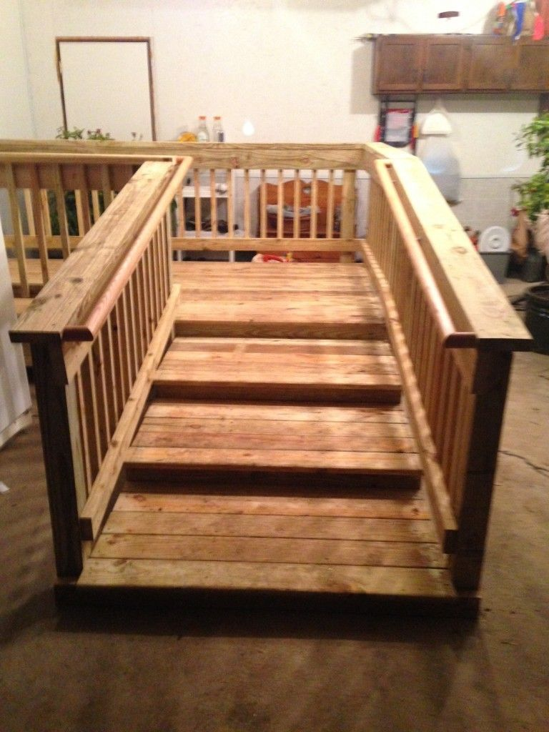 Walker Steps in the Garage with Bilateral Hand Rails | Decks in 2019 on hotel stair rails, cottage stair rails, industrial stair rails, cabin stair rails, chalet stair rails, farmhouse stair rails, contemporary stair rails, flat stair rails, house stair rails, split foyer stair rails, rv stair rails, commercial stair rails, bungalow stair rails, log home stair rails, residential stair rails, patio stair rails,