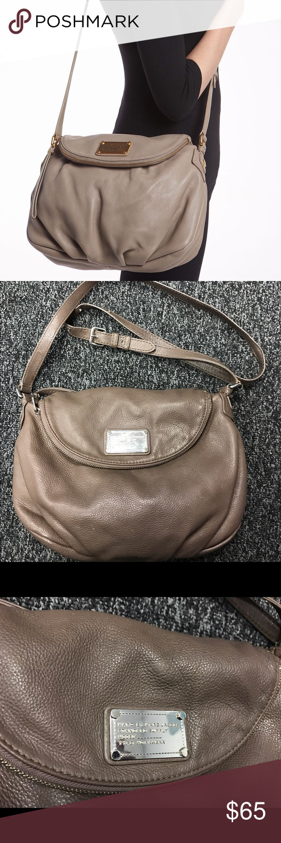 Marc by Marc Jacobs Q Natasha bag- full size Full size Q Natasha bag. Taupe  ColorA ...