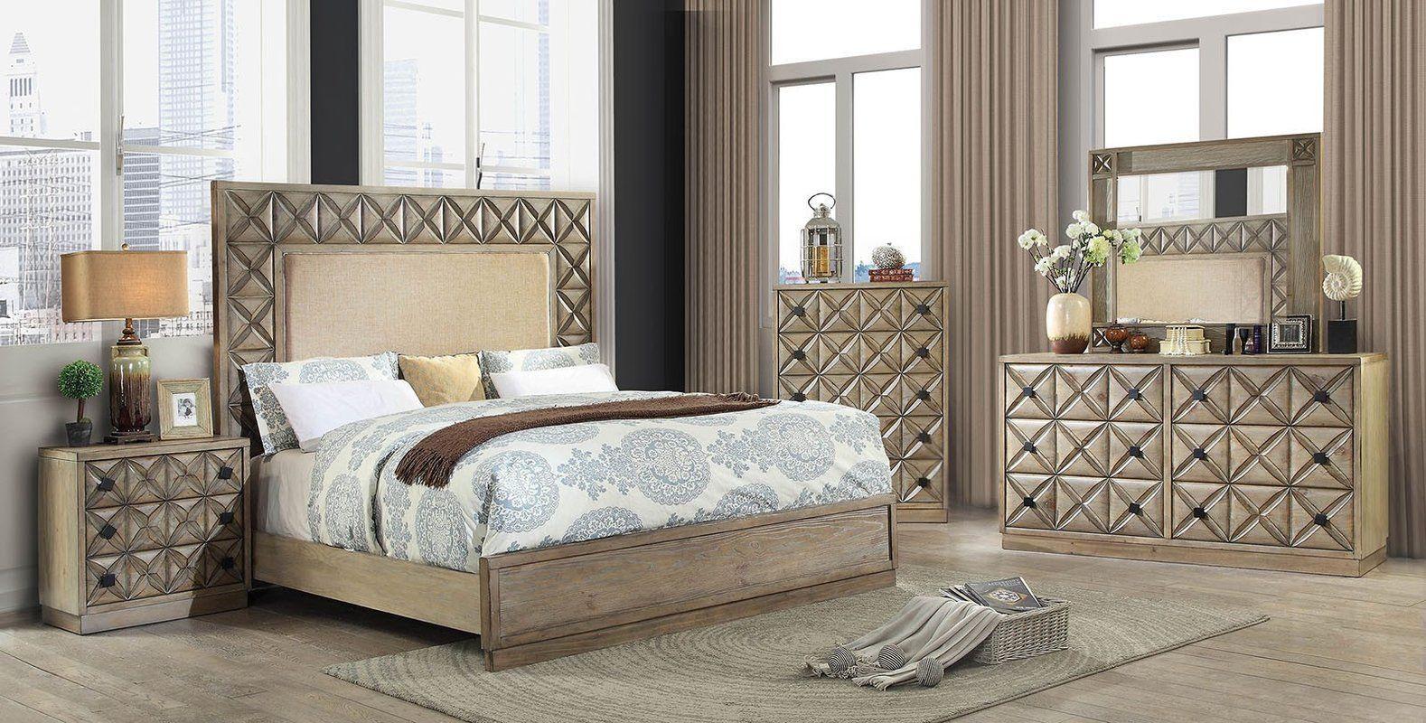 Northmoore Upholstered Panel Bed King bedroom sets