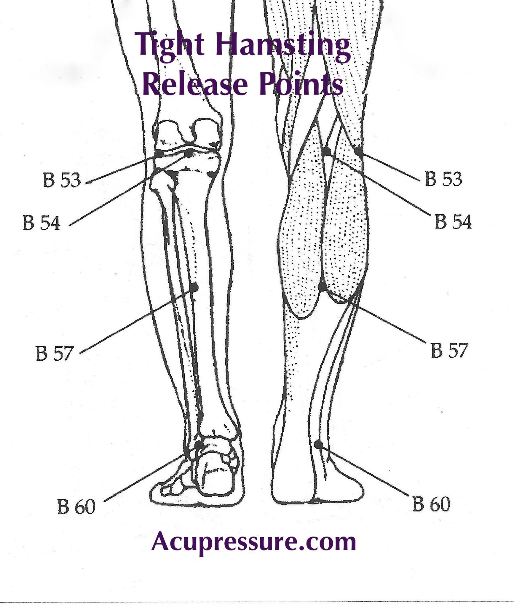 Leg Tightness Amp Stiffness Press Amp Briskly Rub The Points