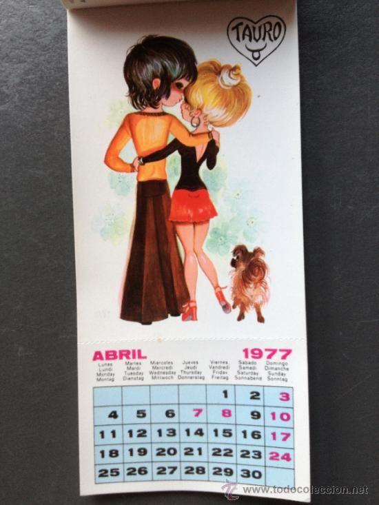 Calendario Del 1977.Precioso Calendario Postales Con Ilustraciones Del Zodiaco