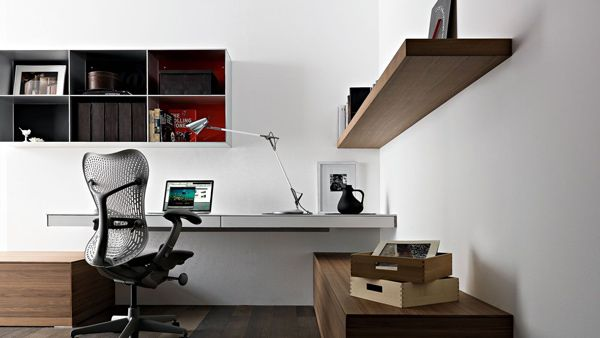 simple home office. Simple Home Office Design Ideas: Wall Mounted Laptop Desk By Valcucine O