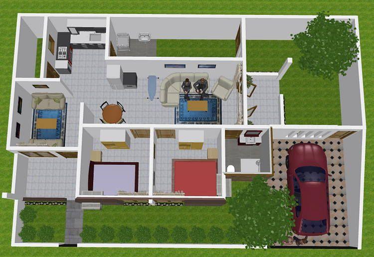 22 Inspirasi Denah Rumah 3 Kamar Toko Online Pintu Rejeki Rumah Minimalis Denah Rumah Rumah
