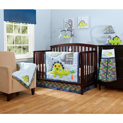 Bananafish Little Dinosaurs 4 Piece Bedding Set Dinosaur Baby Room Dinosaur Crib Bedding Dinosaur Baby Bedding