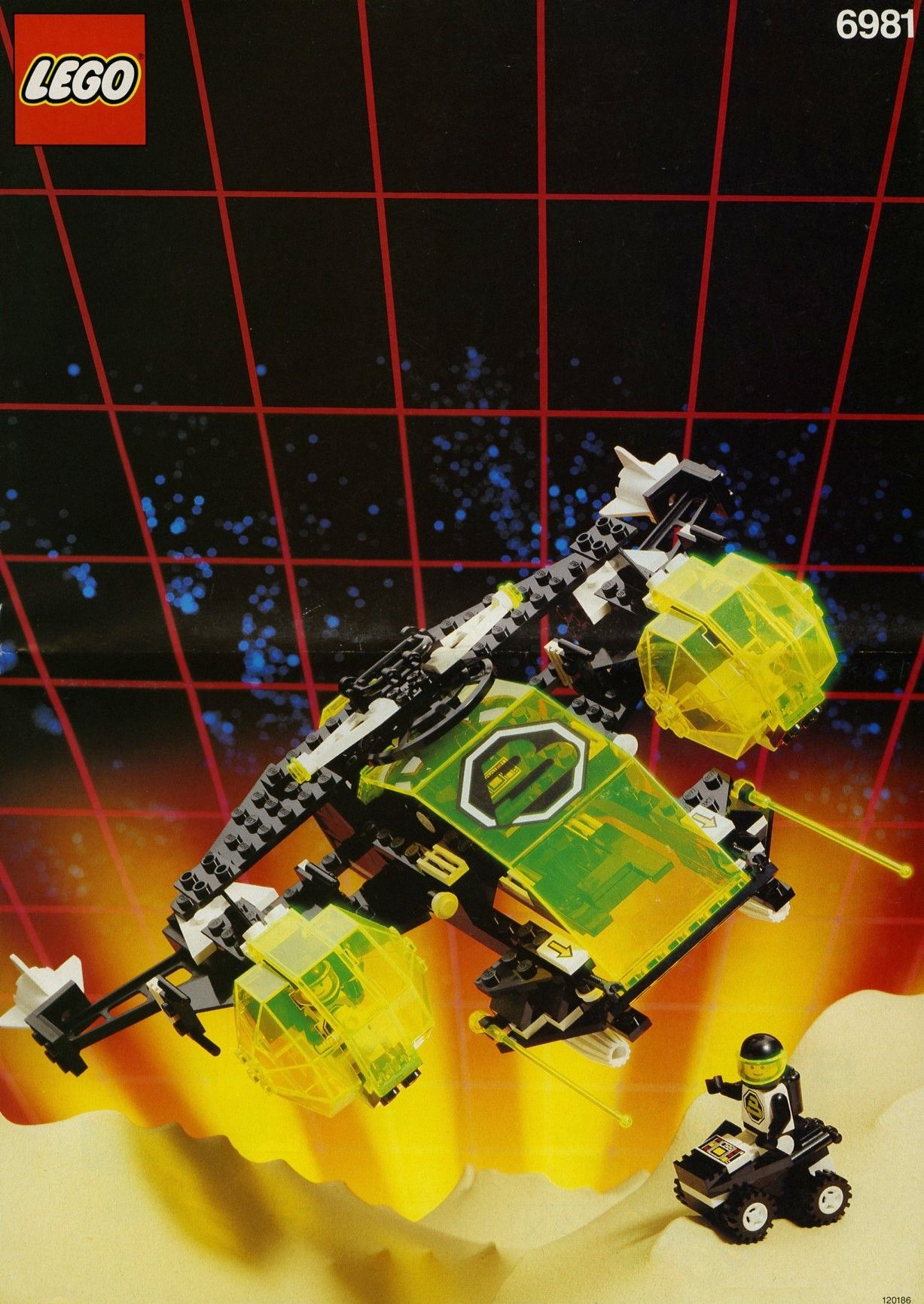 vintage space lego instructions