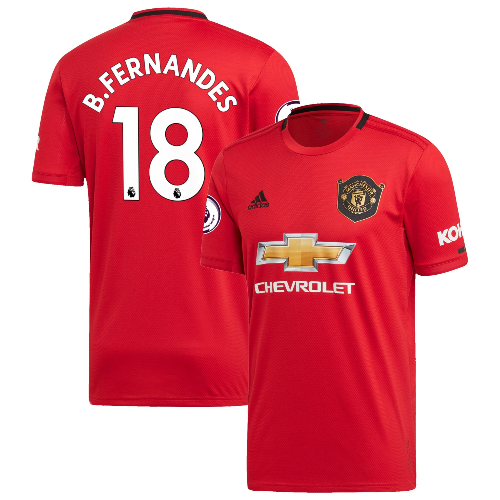 Bruno Fernandes Manchester United Adidas 2019 20 Home Replica Jersey Red In 2020 Manchester United Manchester Manchester United Fans