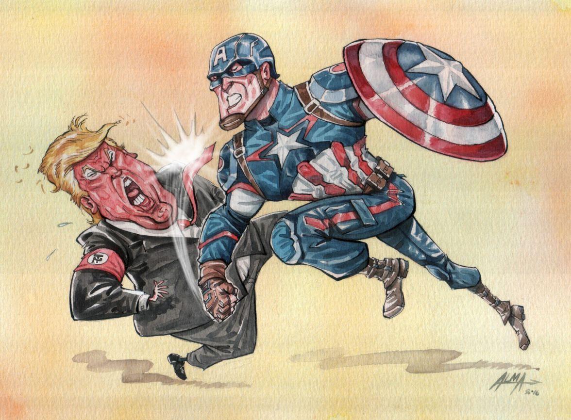 Donald J Trump as Captain America