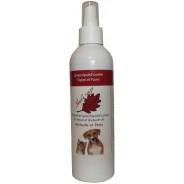 Spray répulsif tiques et puces chiens, chats aux huiles essentielles 250 ml par #FeuilleRouge