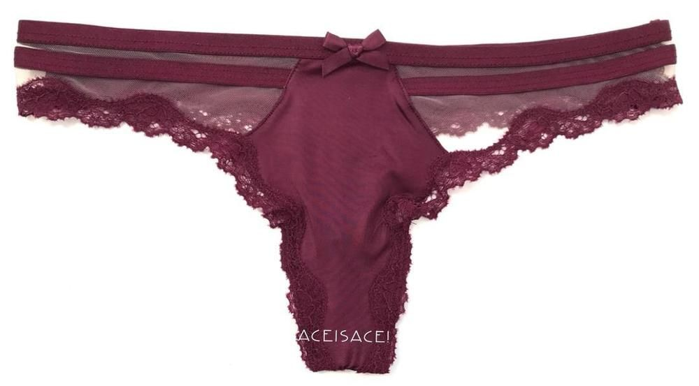 a58a3d2d03 NWT VICTORIA S SECRET VERY SEXY STRAPPY THONG STRING PANTY---PURPLE---XS XP   VictoriasSecret  THONGSTRING