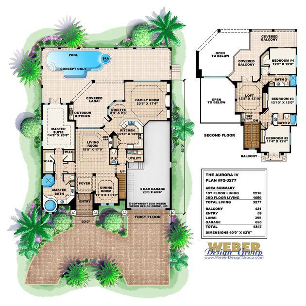 Tuscan Floor Plan | Aurora House Plan | Future Home | Pinterest ...