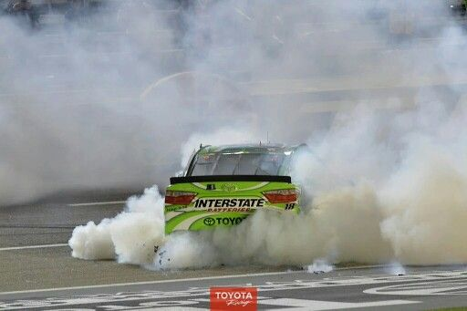 Kyle Busch celebrates his 4th win in a week at Texas Motor Speedway
