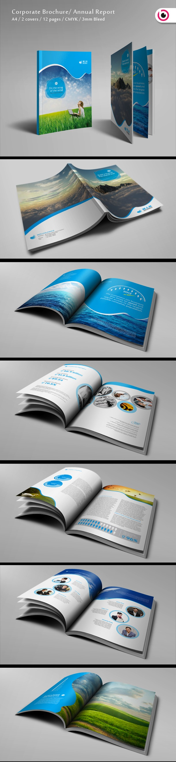 modern and professional brochure designs printbench annual