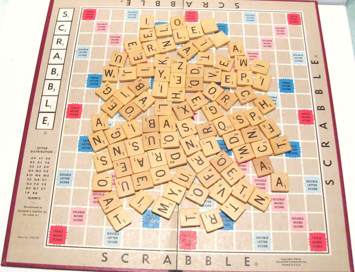 1948 Scrabble 100 Wooden Game Pieces Selchow Righter And Word Guide Book By Okanaganvintage On Etsy Wooden Games Game Pieces Guide Book