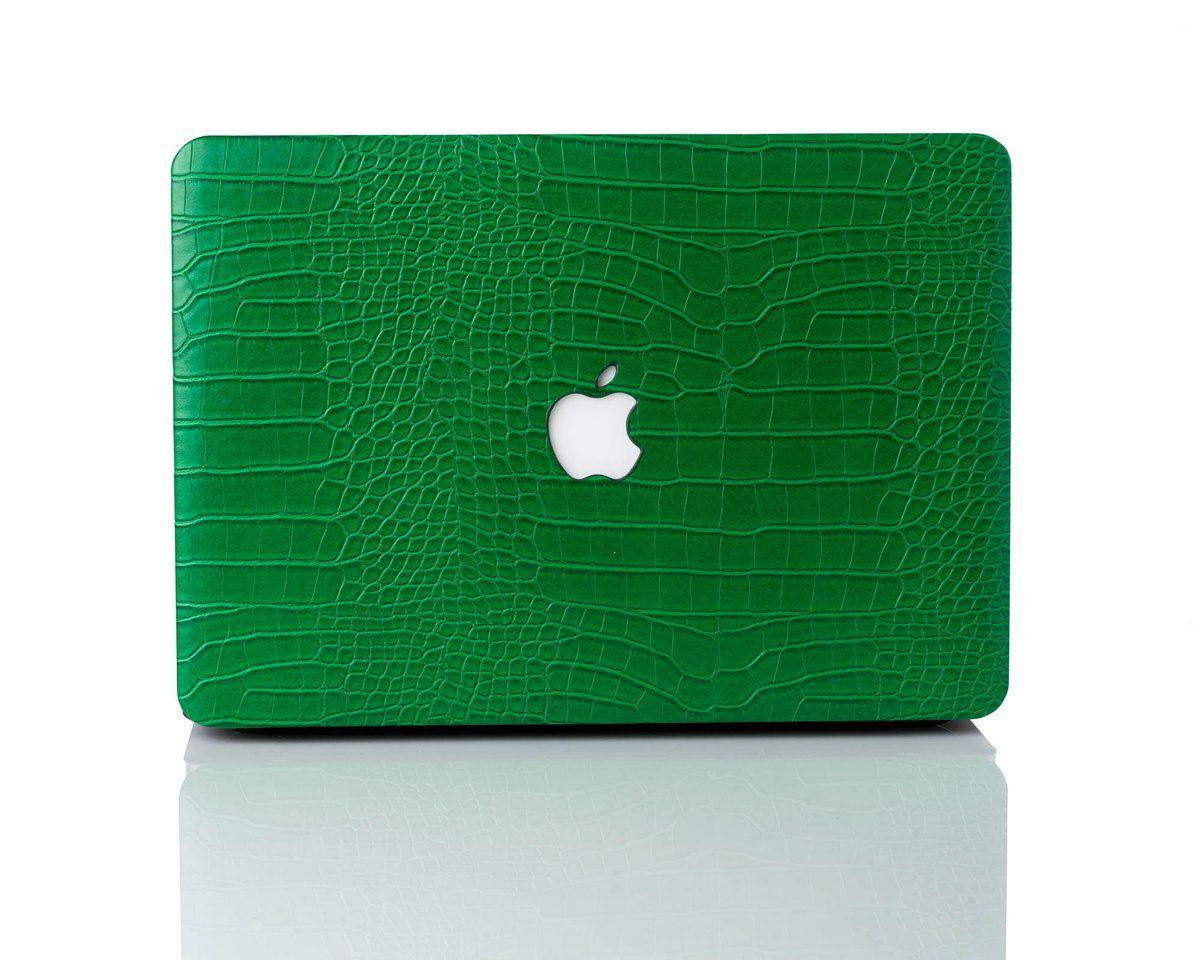 Emerald Faux Crocodile MacBook Case Macbook case, Macbook
