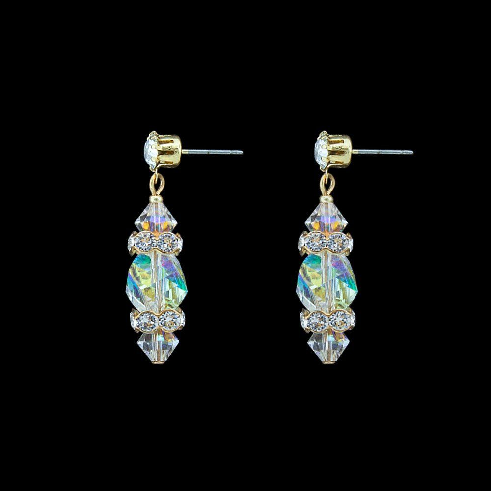Sequin Mixed-Shape Crystal Drop Earrings Zsrla