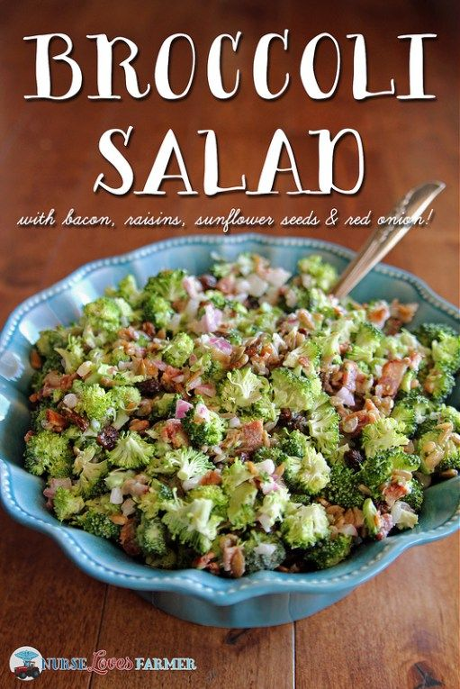 This broccoli salad is bursting with flavour! Accompanied by bacon, sunflower seeds, raisins and red onion dressed with tangy and sweet mayo! A wonderful side dish for almost any meal.