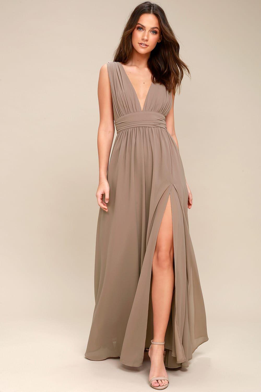 Heavenly Hues Taupe Maxi Dress Taupe Maxi Dress Maxi Dress Loose Maxi Dress