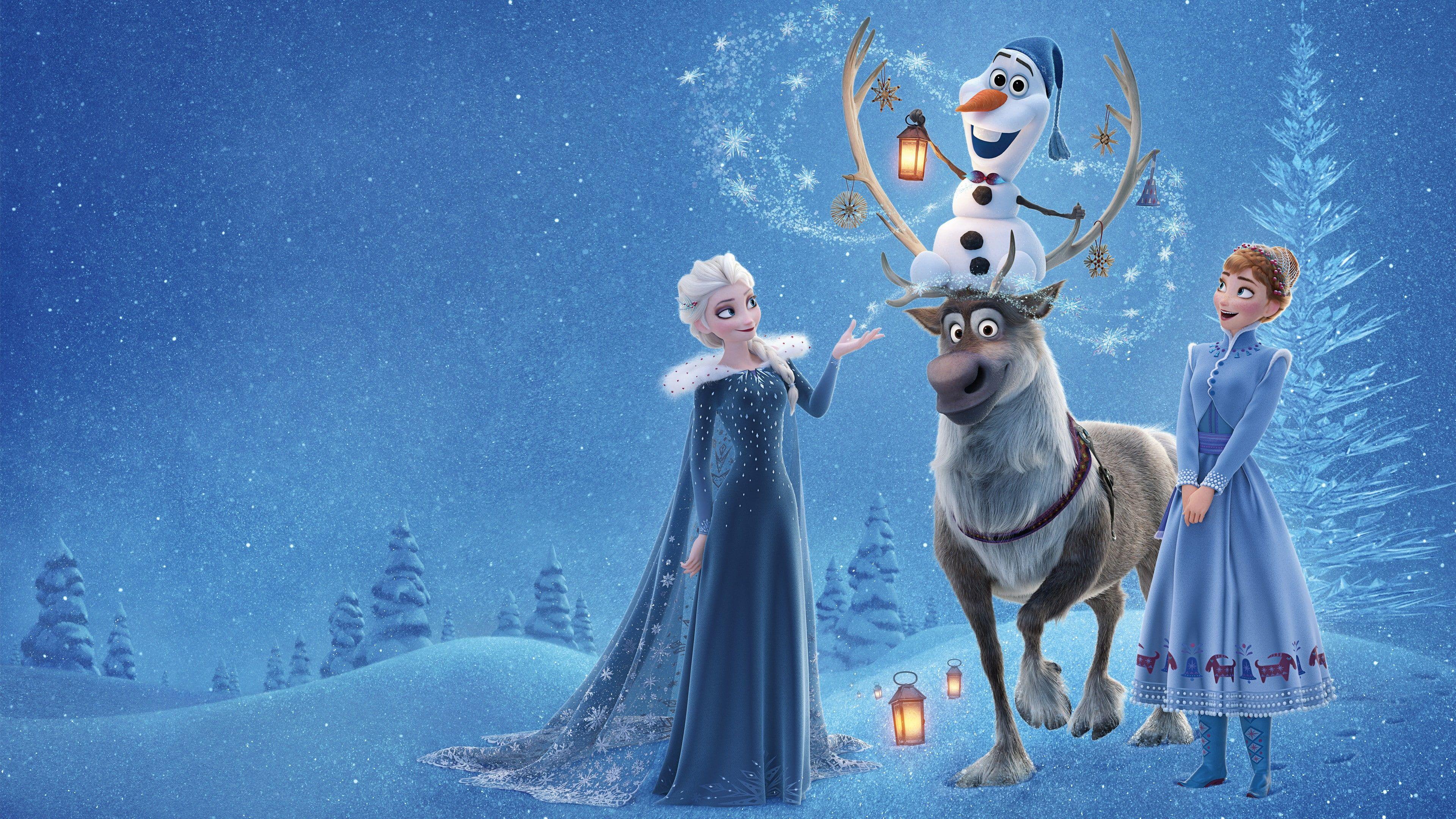Disney Frozen Elsa Anna And Olaf Graphics Olaf S Frozen Adventure Elsa Anna Winter Deer Snow 4k 4k Wallpaper Hdwallpaper Desktop