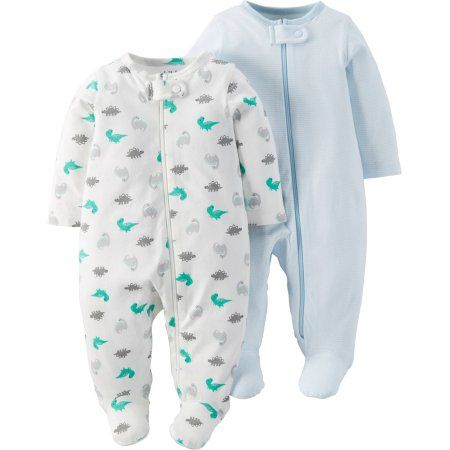 Child Of Mine by Carter's Newborn Baby Boy Sleep N Play, 2-Pack, Size: 0 - 3 Months, Blue