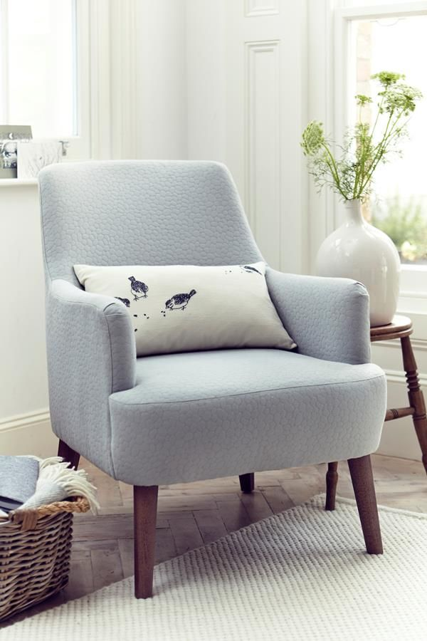16 John Lewis Perth Chair Sparrows Cushion Blue And - Living Room Chairs Perth