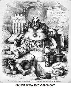 1800s 1871 Thomas Nast Cartoon Of Boss Tweed Tammany Hall