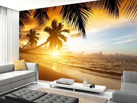 Caribbean Sunset Wall Murals Large Wall Murals Forest Wall Mural