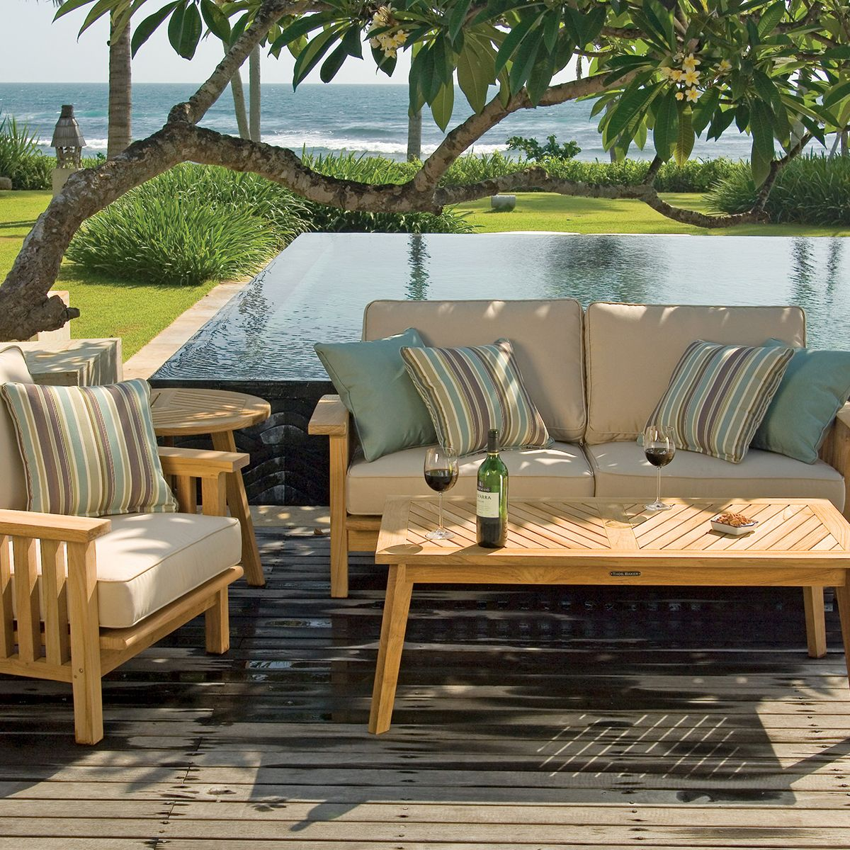 Teak Craftsman Outdoor Sofa | Thos. Baker