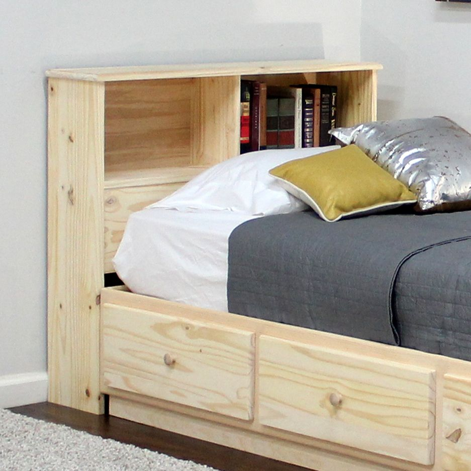 Twin Bookcase Headboard 36 Quot High In Pine Bookcase Headboard Bookcase Furniture