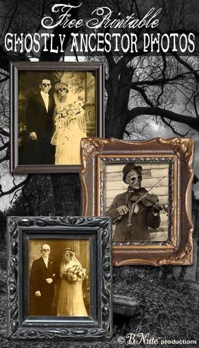 Free Printable Ghostly Ancestor Halloween Photos Perfect for a - martha stewart outdoor halloween decorations