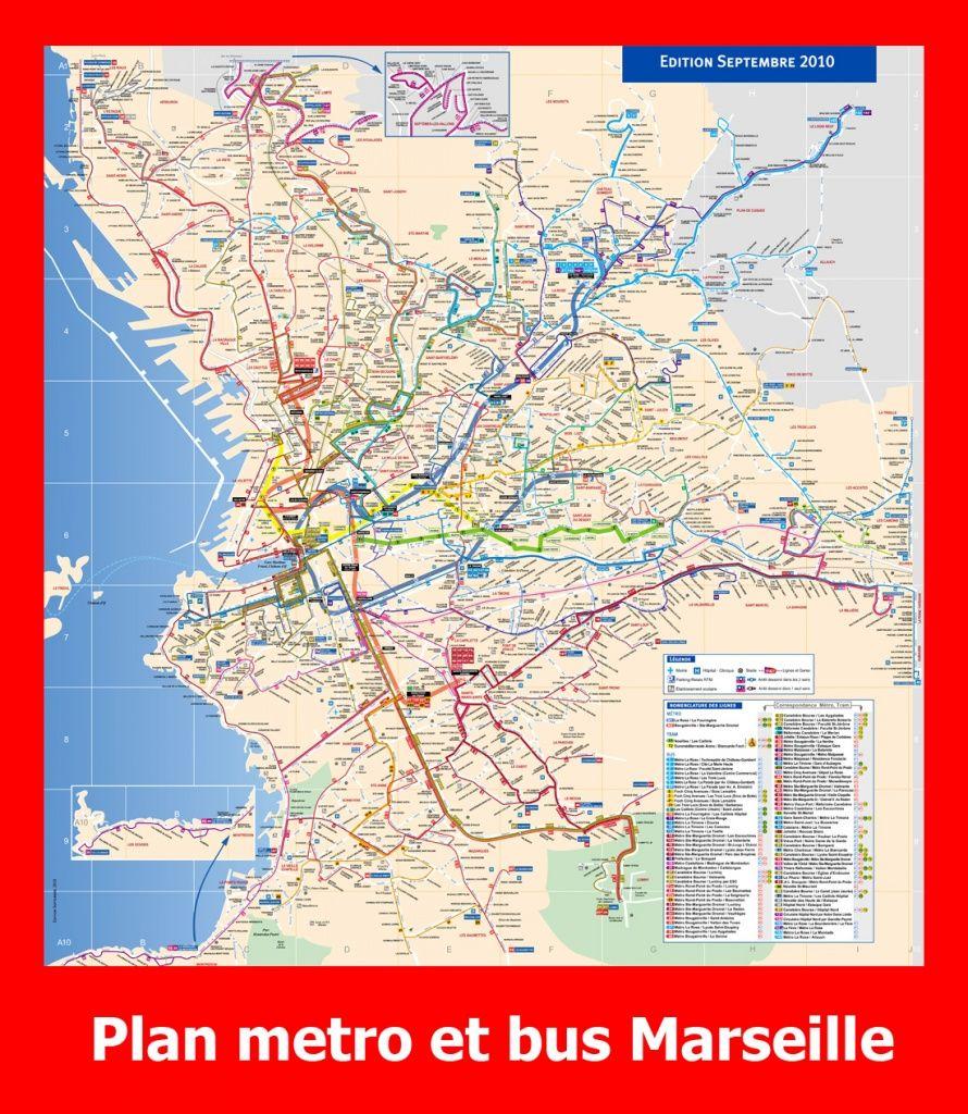 Plan de m tro et bus marseille marseille pinterest - Castorama marseille plan de campagne ...