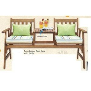 Strange Two Seater Bench With Attached Table Garden Outdoors Beatyapartments Chair Design Images Beatyapartmentscom