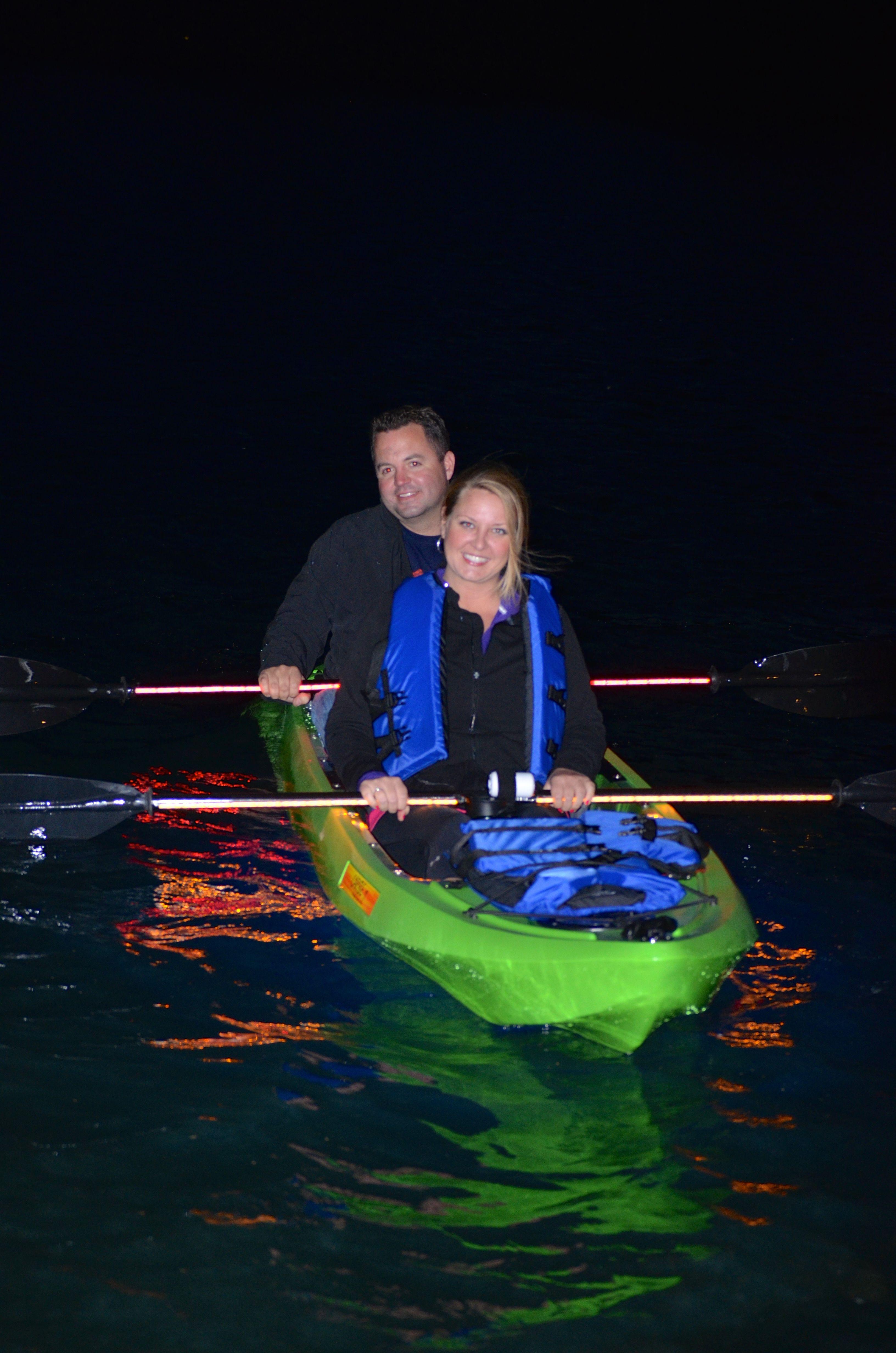 Glass bottom illuminated kayak tours kayaking kayak