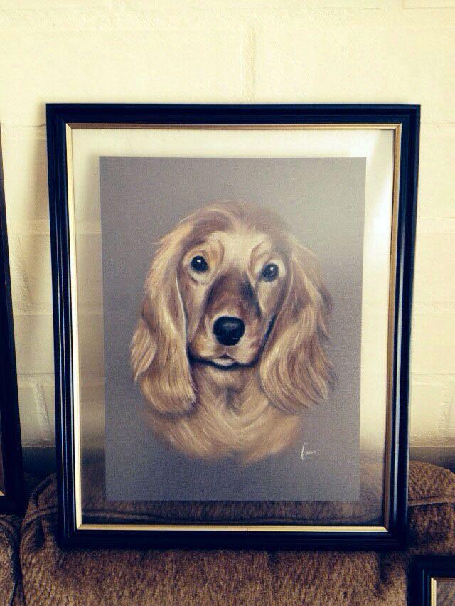 Retrato ya enmarcado. | Pinturas Mascotas. | Pinterest | Mascotas ...